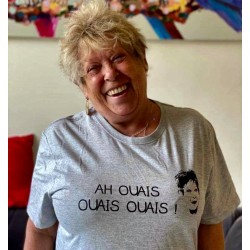 "T-shirt gris ""AH OUAIS..."