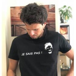 """T-shirt noir """"JE SAIS PAS""""..."""